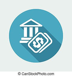 Vector illustration of single isolated historical site cost icon