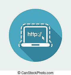 Vector illustration of single isolated web protection  icon