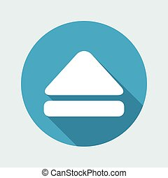 Vector illustration of eject button icon
