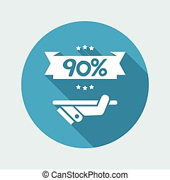 90% Label icon