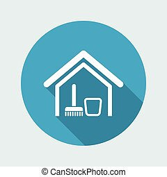 Vector illustration of single isolated clean house icon