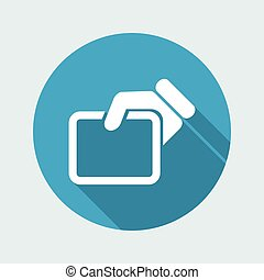 Vector illustration of single isolated doc icon