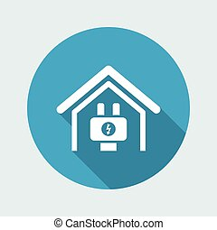 Vector illustration of single isolated electric icon