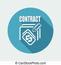 Vector illustration of contract icon
