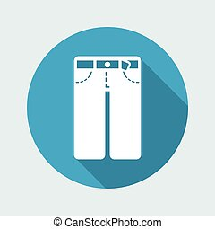 Vector illustration of pants icon