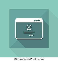 Digital certificate - Vector icon for computer website or...