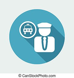 Vector illustration of single isolated driver icon