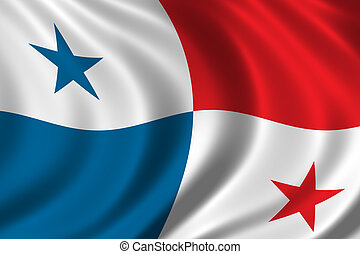 Flag of Panama waving in the wind