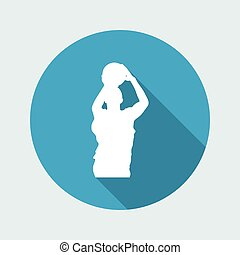 Vector illustration of single isolated basketball icon