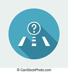 Vector illustration of modern icon depicting a concept of unknown road