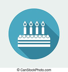 Vector illustration of birthday cake icon