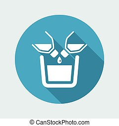 Vector illustration of single isolated pour liquid icon