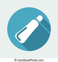 Vector illustration of single isolated tube icon