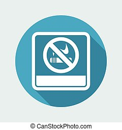 Vector illustration of single isolated no smoke icon