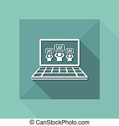 """""""Save"""" crowd - Vector icon for computer website or..."""