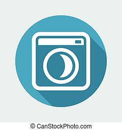 Vector illustration of single isolated sleep pc icon