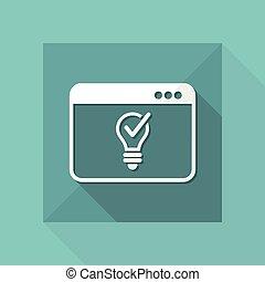 Light bulb - Innovative idea - Vector icon for computer...