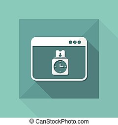 Digital clocking-in card - Vector icon for computer website...