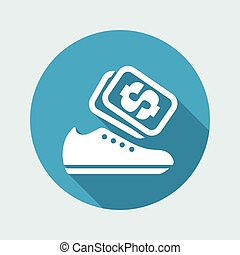 Vector illustration of single isolated shoes store icon