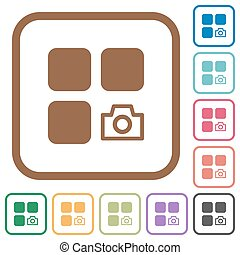 Component snapshot simple icons in color rounded square...