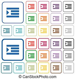 Increase text indentation outlined flat color icons -...