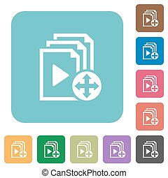 Move playlist item rounded square flat icons - Move playlist...