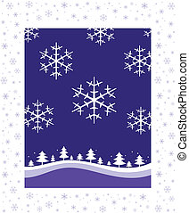 Winter Christmas landscape - Christmas and New Year\'s...