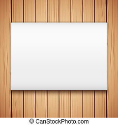Wood plank texture with Empty mockup billboard - Wooden...