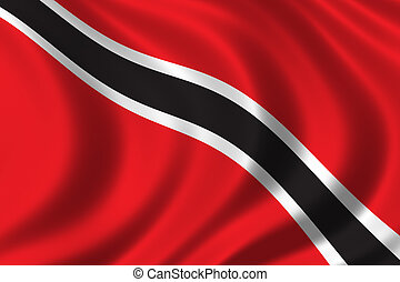 Flag of Trinidad waving in the wind