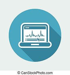 Graphic diagram computer icon