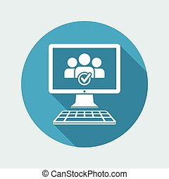 Check computer contacts icon