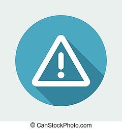 Warning symbol - Vector flat minimal icon