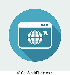 Web browser window - Vector flat minimal icon