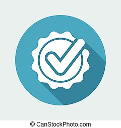 Approval check - Vector flat minimal icon