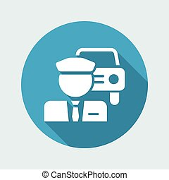 Chauffeur service button icon