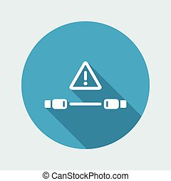 Error cable connection - Vector flat minimal icon