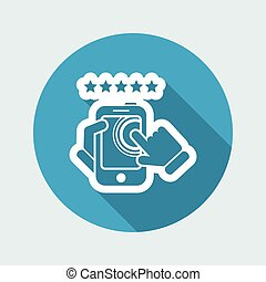 Smartphone icon. Top rated.