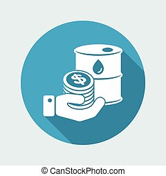 Oil price flat icon
