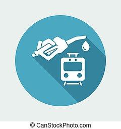 Train fuel - Vector icon