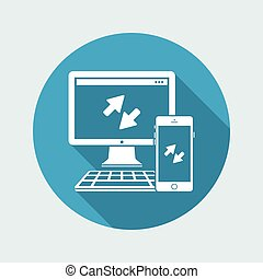 Multi devices synchronization icon