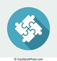 Team united strategy - Vector flat minimal icon