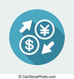 Dollar/Yen - Foreign currency exchange icon