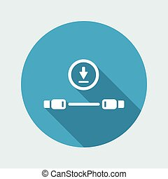 Usb cable for download or transfer data - Vector flat...