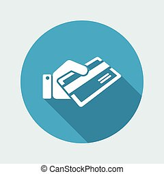 Credit card holding icon