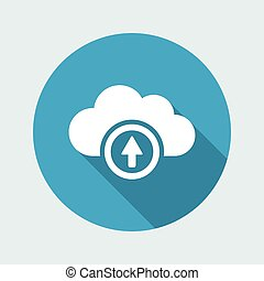 Cloud upload - Vector flat minimal icon