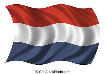 Flag of the Netherlands waving in the wind