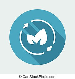 Leaves - renewable concept icon