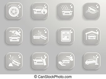 Car Insurance Icons - Car Insurance simply symbol for web...
