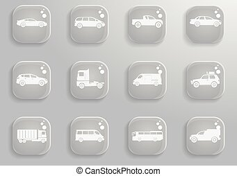 Vehicles Icon Set - Vehicles simply symbols for web and user...