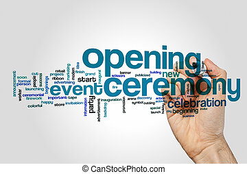 Opening ceremony word cloud concept - Opening ceremony word...